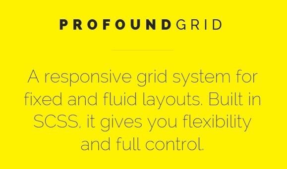 Profound Grid Responsive Grid System For Fixed And Fluid
