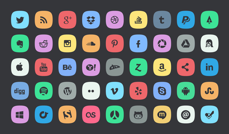 Pleasant 12 Best Rounded Social Media Icons For Free Download 365 Web Hairstyle Inspiration Daily Dogsangcom