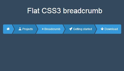 Creating A Flat Style Breadcrumb With Pure Css3 365 Web