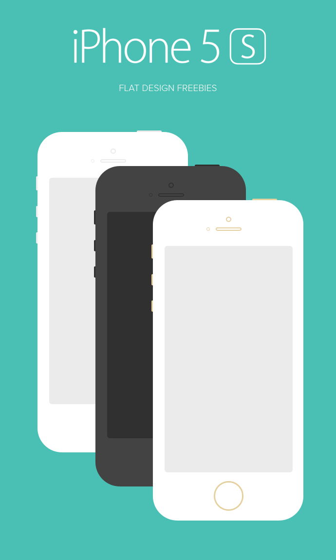 Best Latest IPhone 5S And IPhone 5C Mockup Templates