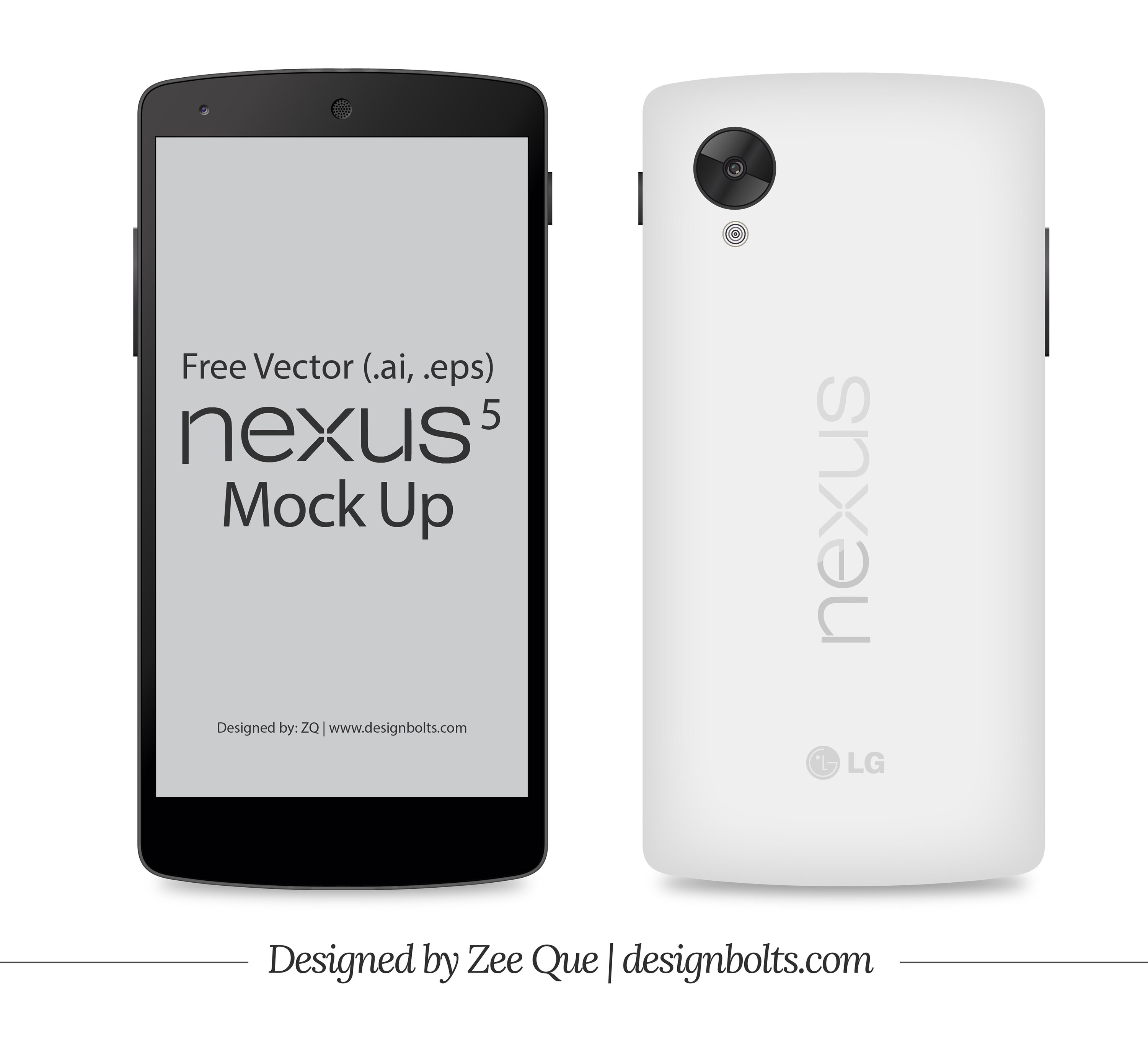 Collection Of Google Nexus 5 / 5X Mockup Templates - 365 Web Resources