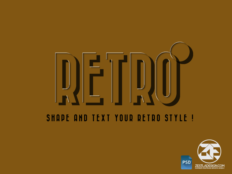 Retro PSD Layer Style Effect