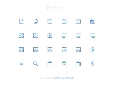 24 Thin Icons