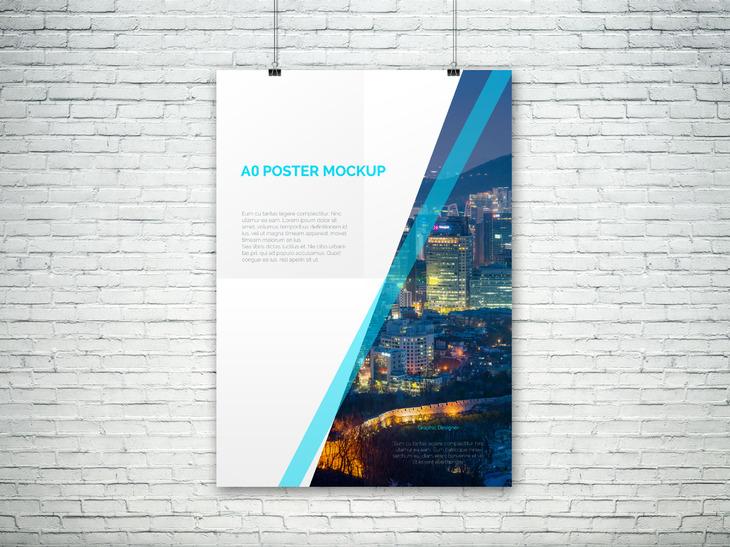 A0 PSD Poster Mockup