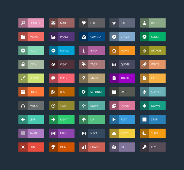 15 Free Flat Designed Ui Buttons For Front End Developer 365 Web Resources