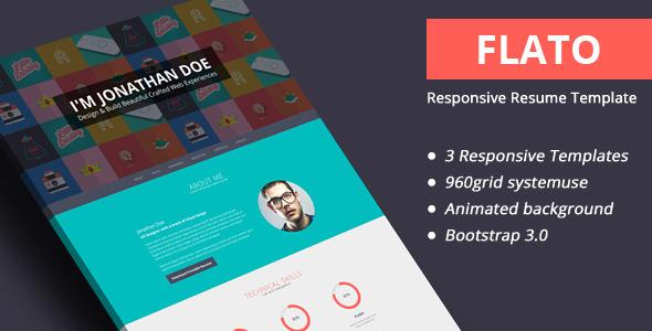 Flato – Responsive Online CV & Resume Templates
