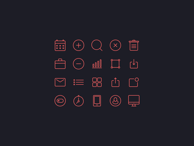 Small icons set