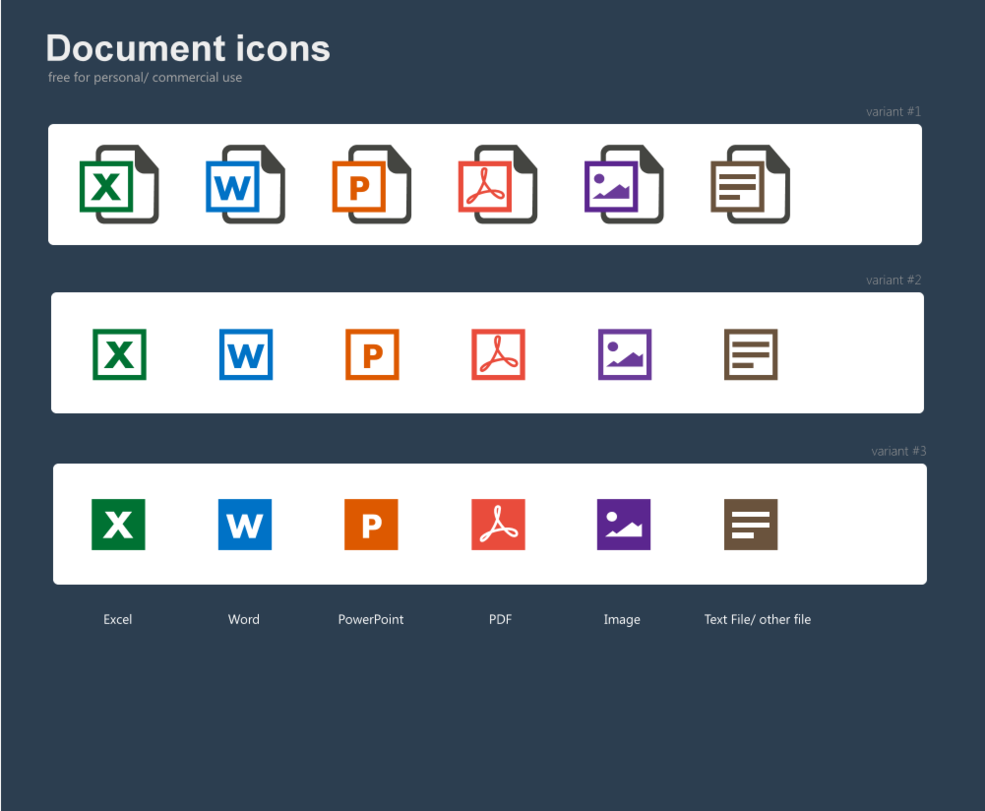 10+ Flat File/Document Type Icon Sets For Free Download - 365 Web ...