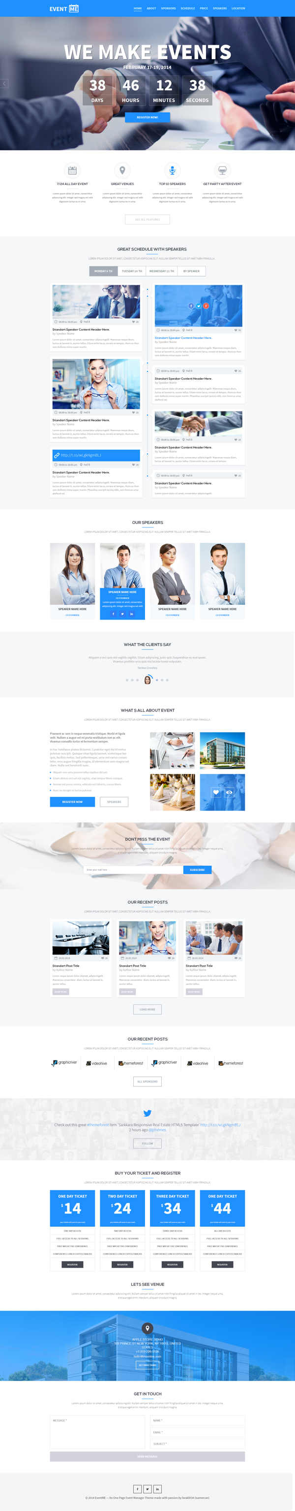 15 Best One Page Website Psd Templates For Web Designers