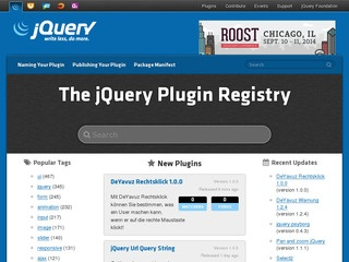jQuery Plugin Registry