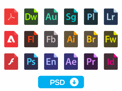 10 Flat File Document Type Icon Sets For Free Download