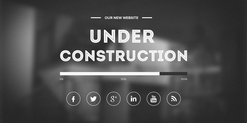 Top 10 coming soon page templates for inspiration 365 for Simple under construction html template