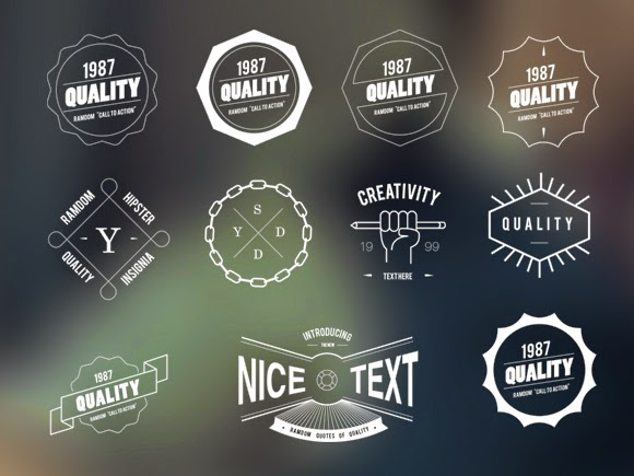 Freebie: Vector Hipster Badges - Every-Tuesday
