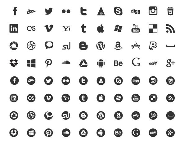 20 Fresh New Social Media Icon Sets In 2014 365 Web