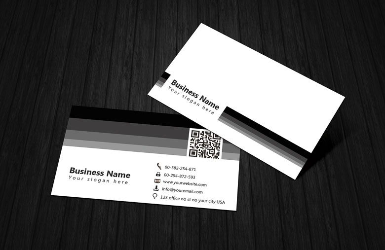 Calling Card Template Black And White Black White Business Card