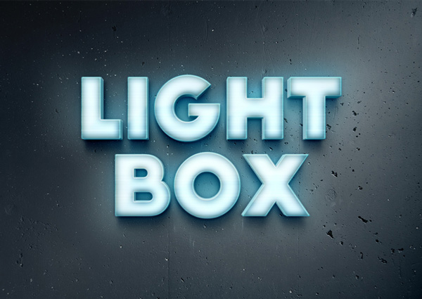Lightbox Text Effect & 100+ New Photoshop Text Styles For Free Download - 365 Web Resources azcodes.com