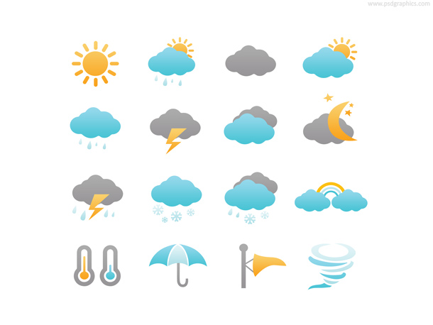 15+ Weather Icon Sets You Shouldn't Miss - 365 Web Resources  15+ Weather Ico...