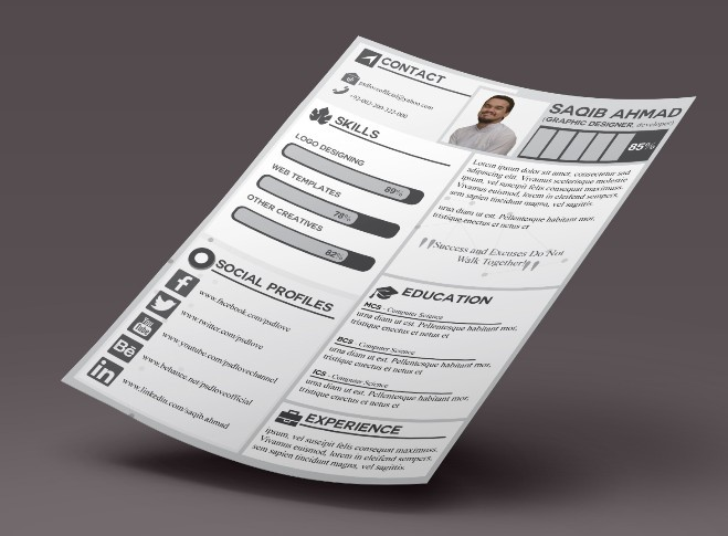 Free CV Template for Graphic Designer