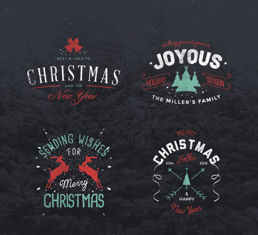 150+ Best Christmas & Happy New Year Graphic Design Freebies 2018 ...