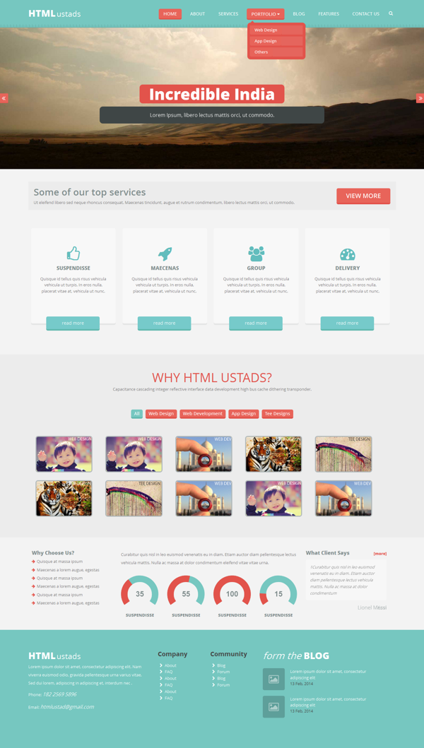 20+ Modern HTML Templates for Free Download - 365 Web Resources