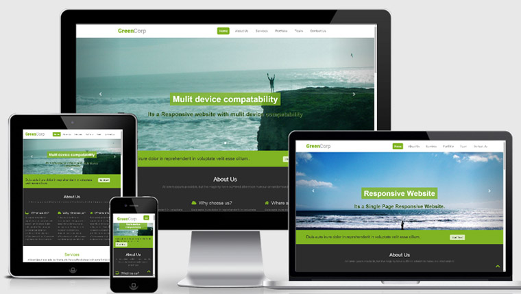 20 modern html templates for free download 365 web for Mobile site template free download