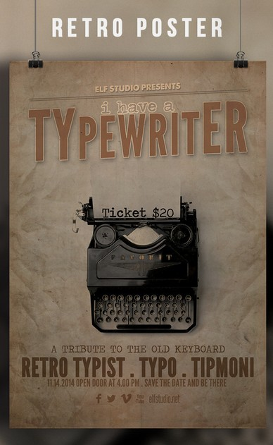 Retro Print Ready Flyer & Poster Template