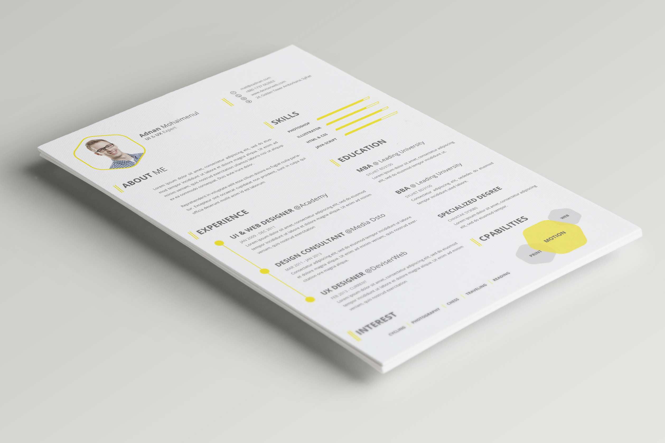 10 new fashion resume cv templates for free download 365 web