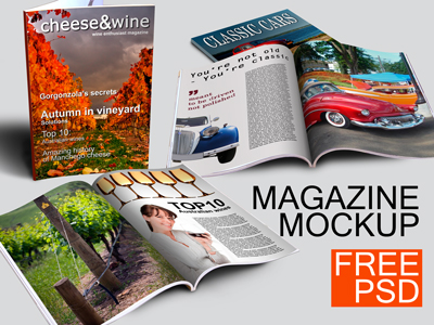 10+ Magazine Mockups & Templates For Free Download - 365 Web Resources