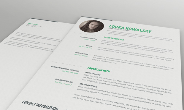 10+ New Fashion Resume / CV Templates For Free Download