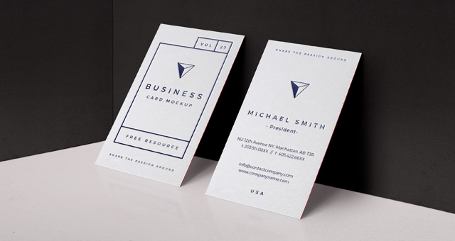 200 best business card mock ups for free download 2018 edition psd business card mock up wajeb Images