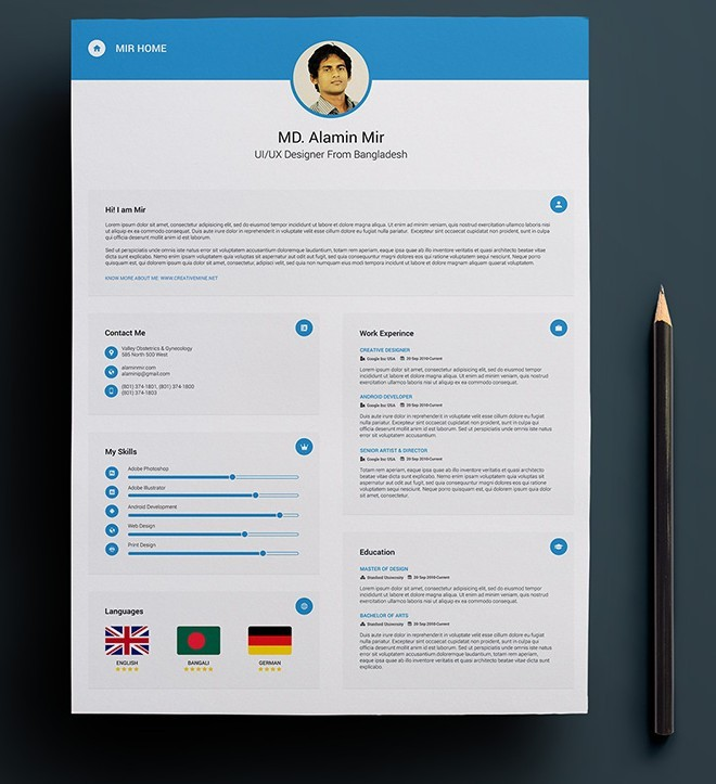 Free Resume with Business Card