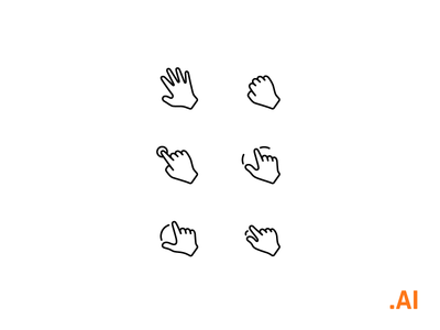 Free Icons - Interaction gestures
