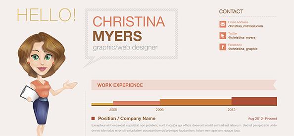 Free PSD Creative Business Resume