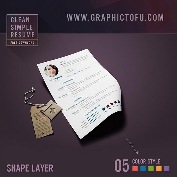 Free Clean Simple Resume Template