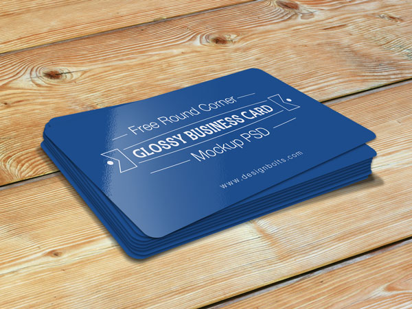 200 best business card mock ups for free download 2018 edition free round corner glossy business card mockup psd reheart Gallery