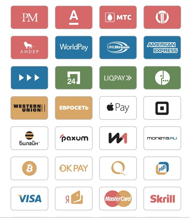 Free icons of payment systems
