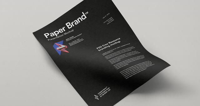 Psd A4 Paper Mock-Up Vol11