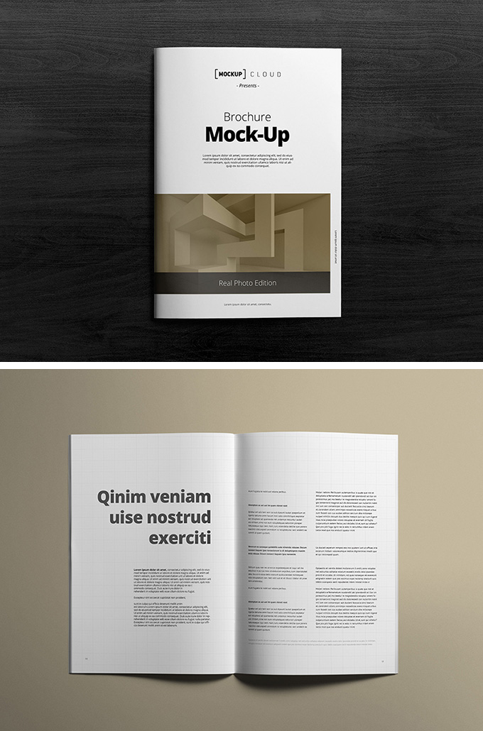 15 high quality free flyer and brochure mock ups for Brochure design mockup