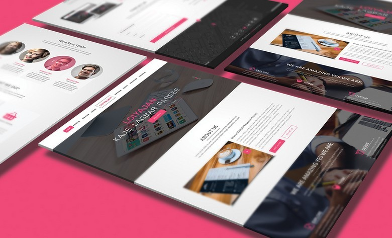 15+ Best One Page Website PSD Templates For Web Designers - 365 Web ...