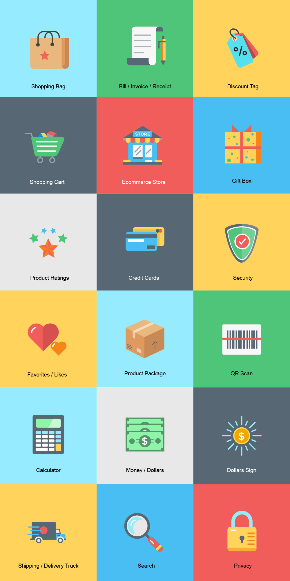 50 best shopping and e commerce icon sets 365 web resources ecommerce icon set altavistaventures Images