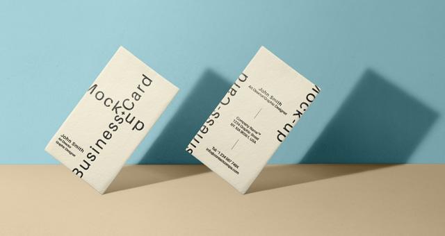 200 best business card mock ups for free download 2018 edition psd business card mock up vol33 reheart Images