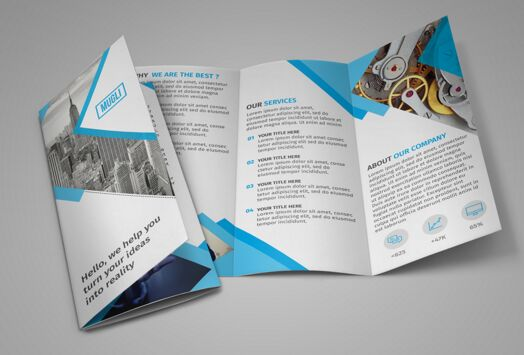 100 high quality free flyer and brochure mock ups 2018 for Pamphlet photoshop template