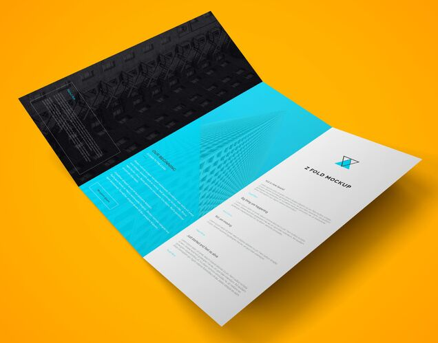 15 high quality free flyer and brochure mock ups for 2 fold brochure template psd