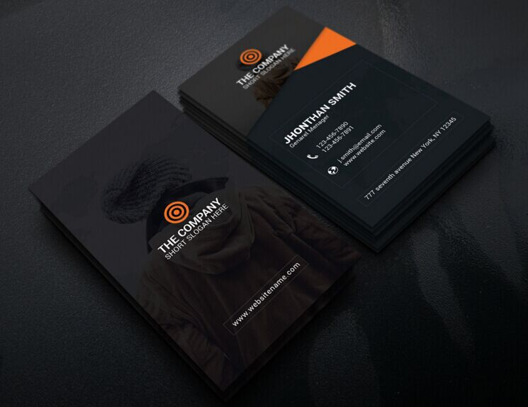 200 best business card mock ups for free download 2018 edition free business card template psd wajeb Images