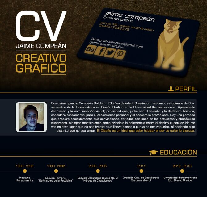 Free Student Resume PSD Template