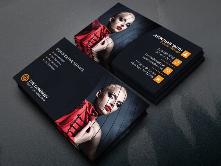 Best Business Card Mockups For Free Download Edition - Business card template with photo
