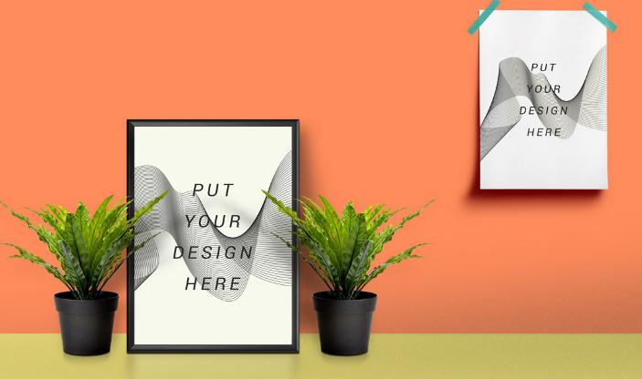 Picture Frame & Poster Mockup
