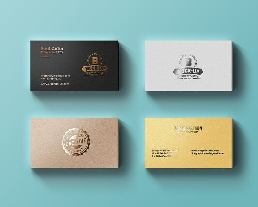 200 best business card mock ups for free download 2018 edition foil business cards mockup psd reheart Gallery