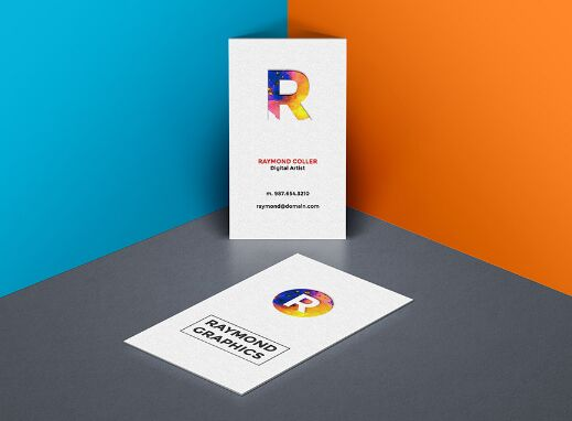 Best Business Card Mockups For Free Download Edition - Portrait business card template