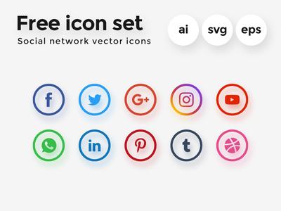 25+ Best Social Media Icon Sets For Free Download - 365 Web Resources